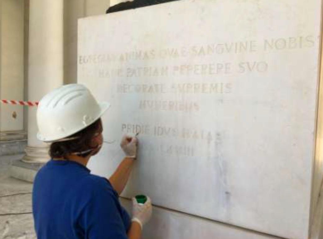 restauro conservativo monumentale minerva napoli statua federico II tekna restauri